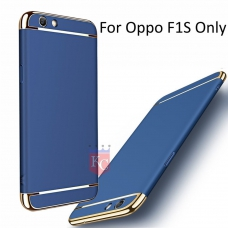 3 In 1 Ultra Thin Hard Coated Matte Surface Back Cover for Oppo F1s - Blue